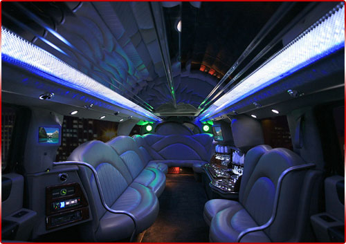 H2 Hummer Limo Interior