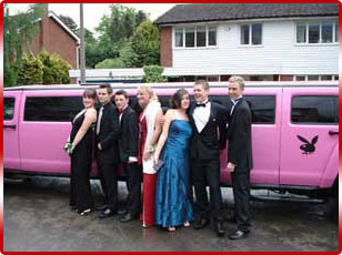 Pink Hummer Prom Limo
